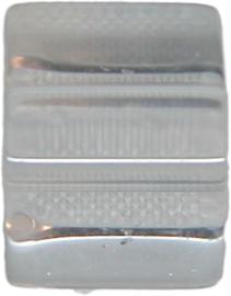 01848 Glaskraal kubus Transparant 8mm 1 streng (±30cm)