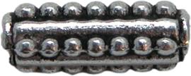 01737 Metalen kraal buis Antiek zilver (Nikkelvrij) 15mmx5mm; gat 2,5mm 7 stuks