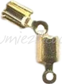04094 Veterklem Goudkleurig (Nikkelvrij) 8mmx3mm ±16 stuks