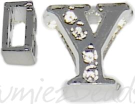 04260 Schuifkraal Letter Y Metaalkleurig (Nikkelvrij) 9mmx9mm; gat 6,5mmx3,5mm 1 stuks