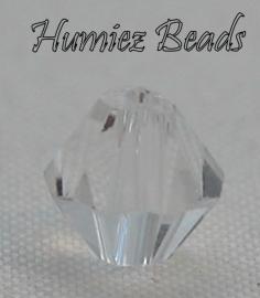 02355 Glasperle Imitation Swarovski 5301 bicone Crystal 6mm 9 stück
