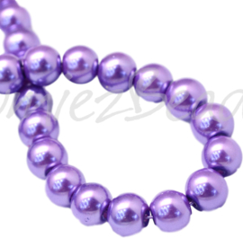 04016 Glasparel MediumPurple 3-4mm; gat 0,5mm 1 streng ±30cm