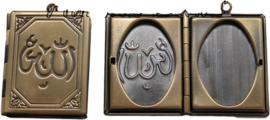 01644 Hanger fotoboek (licht beschadigd) Antiek brons 40mmx27mm 1 stuks