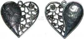 01479 Hanger hart Antiek zilver (nikkelvrij) 1 stuks