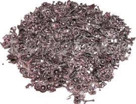 Mix-0017 Mix bedels Tuin metallook Antiek zilver 8mm ±250 gram