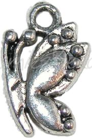 00150 Bedel vlinder Antiek zilver