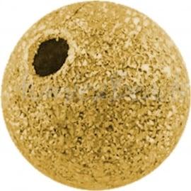 00373 Kralen stardust Verguld 6mm 15 stuks