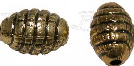 02769 Metallook spacer bijenkorf Antiek goud 11mmx7mm 15 stuks