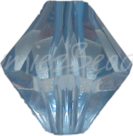 00094 Acryl kraal bicone Blauw 14mm 7 stuks