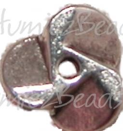 00308 Spacer schroef Antiek Zilver (Nikkel vrij) 2,5mmx9mm 11 stuks