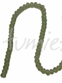 01421 Glaskraal imitatie swarovski faceted Abacus streng (±20cm) Groen 4mmx6mm 1 streng