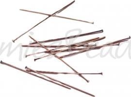 03926 Nietstift Antiek koper (Nikkelvrij) 30mmx0,7mm ±60 stuks