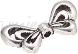 01395 Spacer vleugel Antiek zilver (Nickel vrij) 10mmx17mmx2,5mm; gat 1,5mm