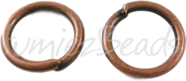 02544 Ringetjes Koperkleurig (nikkelvrij) 10mmx1mm 40 stuks