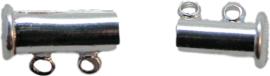 01409 Magneetschuifslot 2-rings Zilverkleurig 15mmx7mm