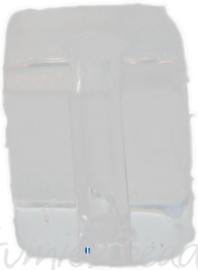 00945 Glaskraal vierkant Transparant 6mm 1 streng (±30cm)