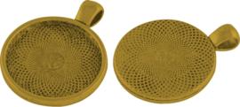 04503 Bedel Cabochonsetting Antiek goud (Nikkelvrij) 36mmx28mmx6mm 1 stuks