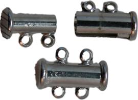 01400 Magneetschuifslot 2-rings Metaalkleurig 15mmx7mm
