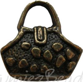 00851 Anhänger handtasche Bronzefarbe 18mm