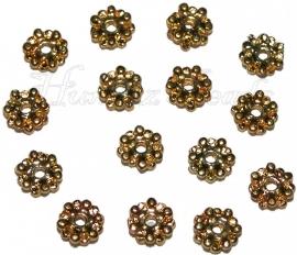 03062 Spacer daisy Goudkleurig 2mmx7mm 14 stuks