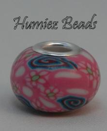 02273 European charm zubehöre polymer ton Pink 15mm