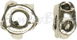 02220 Abstandhalter rond kuiltjes Antiksilber (Nickelfrei) 3mmx5mm 20 stück