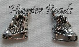 02304 Bedel schaats Antiek zilver (nikkelvrij) 12mmx10mm