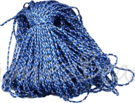 PARA-4018 Parakoord Blauw-wit-zwart 4mm 6 meter