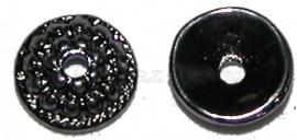 00600 Kralenkap spotted Zwart (Nickel vrij) 10mm