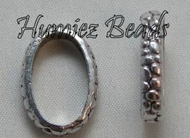 02150 Ring ovaal Antiek zilver (Nikkelvrij) 20mmx14mm 6 stuks
