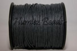 W-0008 Waxkoord Donker grijs 1mm ±70 meter