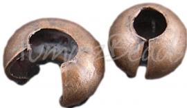 01264 Knijpkraal verberger Koperkleurig (Nickel vrij) 5mm ±20 stuks
