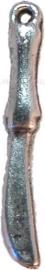 00255 Bedel mes Antiek zilver (Nikkel vrij) 11 stuks
