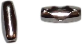 02589 Metaal klemmetje voor ball-chain Stainless steel 9x3x2,4mm 10 Stuks