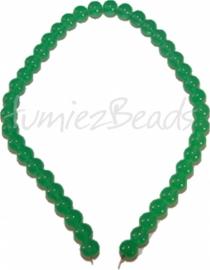 03462 Glaskraal streng (±40cm) imitatie jade Groen 10mm 1 streng