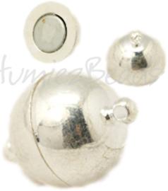 02192 Magneetslot Zilverkleurig (Nikkel vrij) 16mmx10mm; gat 1,2mm 1 stuks