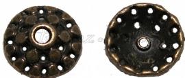 02161 Kralenkap puntjes Brons (Nikkelvrij) 11mmx4mm 15 stuks