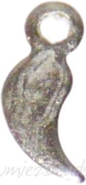 04133 Bedel druppel Metaalkleurig (Nikkelvrij) 8mmx6mm; gat 1mm ±40 stuks