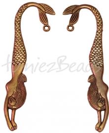 B-0029 Boekenlegger zeemeermin Antiek goud 1 stuks