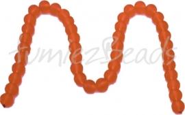 03601 Glaskraal frosted streng ±40cm Oranje 10mm 1 streng