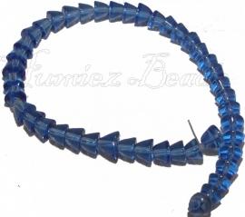02609 Glaskraal streng (±20cm) Blauw 5mmx5-7mm 1 stuks