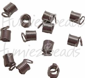 01981 Spiraalklemmetje Metaalkleurig (Nickel vrij) 6mmx9mm 20 stuks