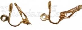 00807 Clip oorbel Goudkleurig (Nikkelvrij) 12mm 3 paar