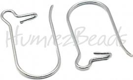 01217 Oorbelhaakjes gesloten stainless steel Metaalkleurig 20mmx10mmx0,7mm 3 paar