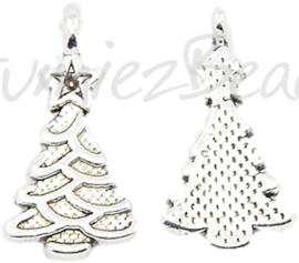 02770 Bedel kerstboom Antiek zilver (Nikkelvrij) 21mmx11mm; gat 1mm 1 stuks