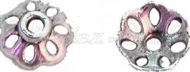 00453 Kralenkap fijn Antiek zilver (Nikkel vrij) 3mmx7mm 15 stuks