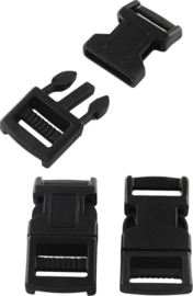 04476 Slot Parakoord Zwart 43mmx20.5mmx7mm; Gat 16mmx3mm 4 stuks