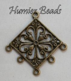02493 Verdeler chandelier Antiek brons 36mmx34mm 3 stuks