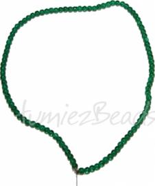 03554 Glaskraal streng (±40cm) crackle Groen 4mm 1 streng