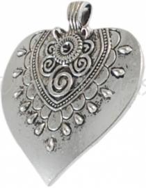 02310 Hanger hart Antiek zilver 58mmx51mmx3mm